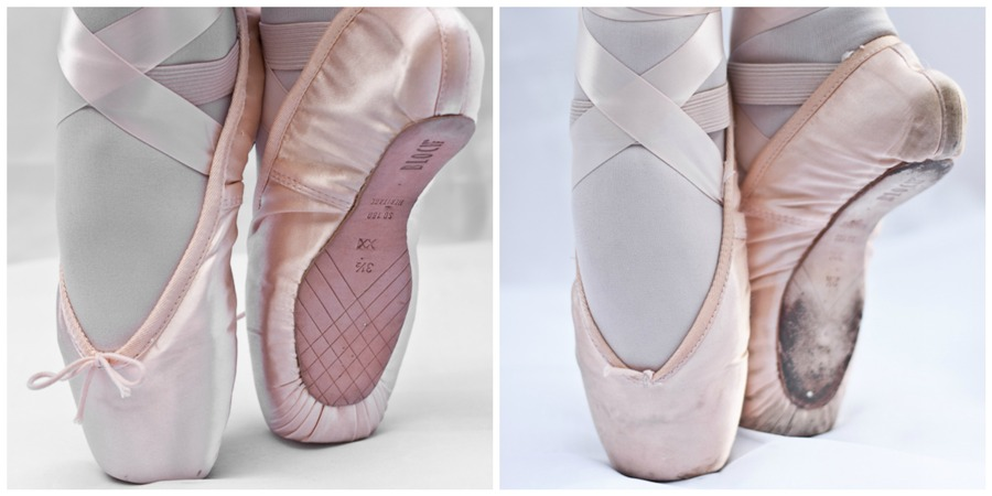 New & Old Pointe Shoes