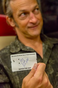 John Liebler with his remedial ticket